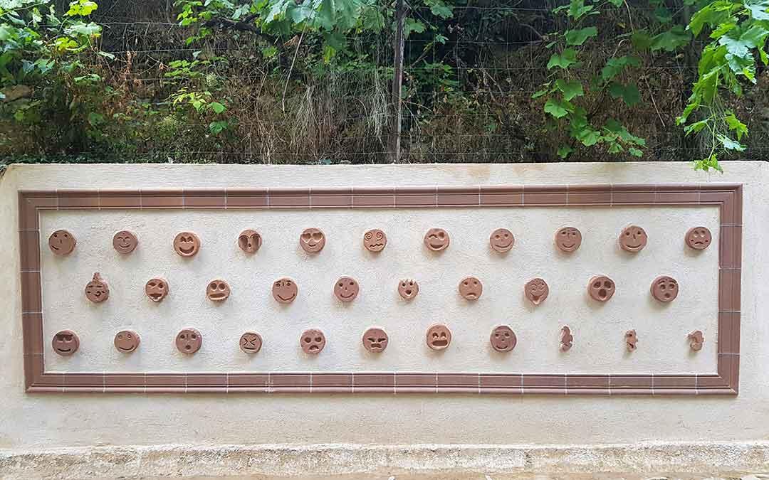 Nueva escultura realizada por los alumnos./Manuel Galve