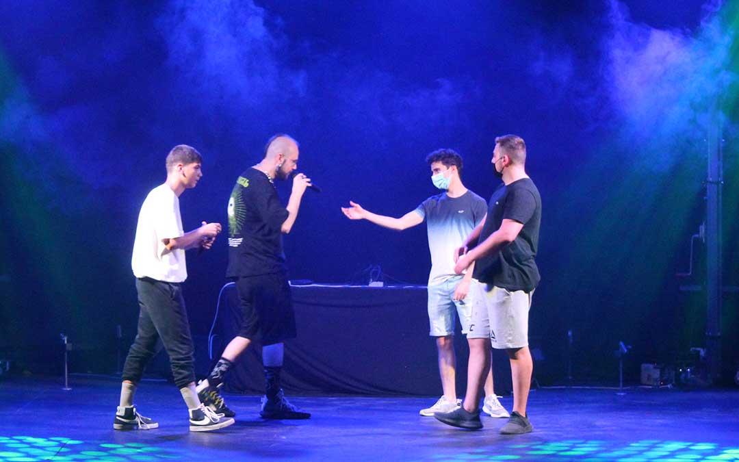 El grupo alcañizano Atlantes del Free durante el primer Festival de Cultura Urbana en junio / B. Severino