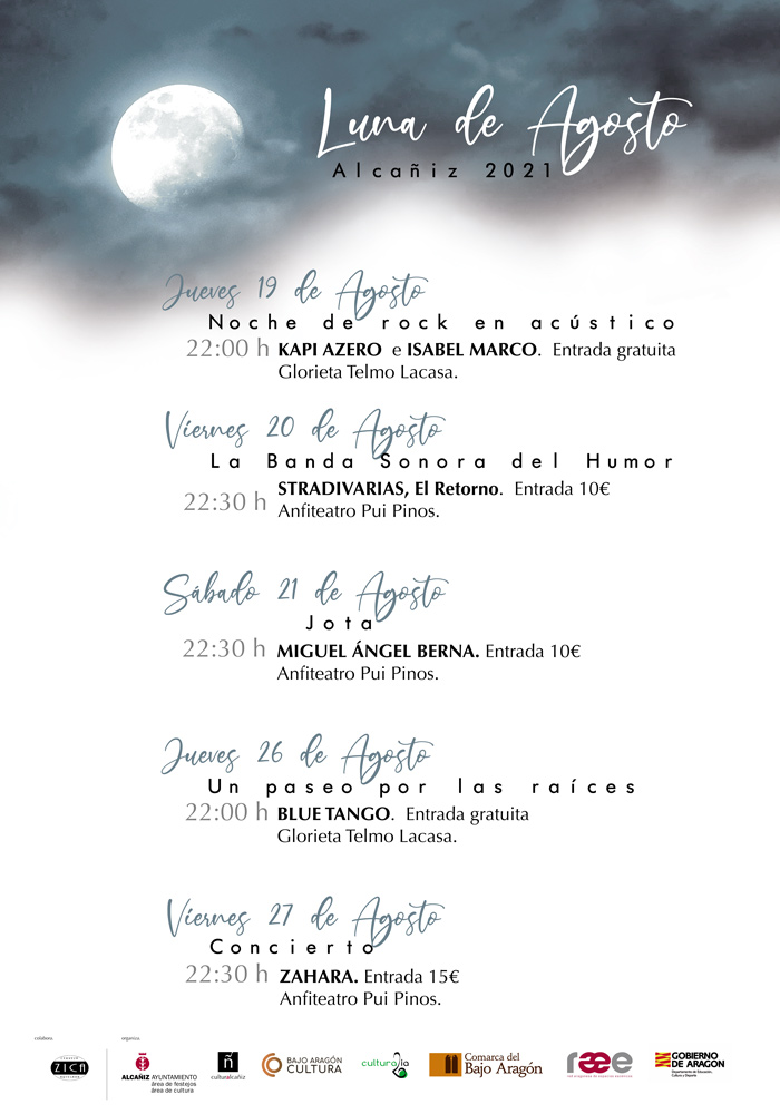 Luna de Agosto en Alcañiz