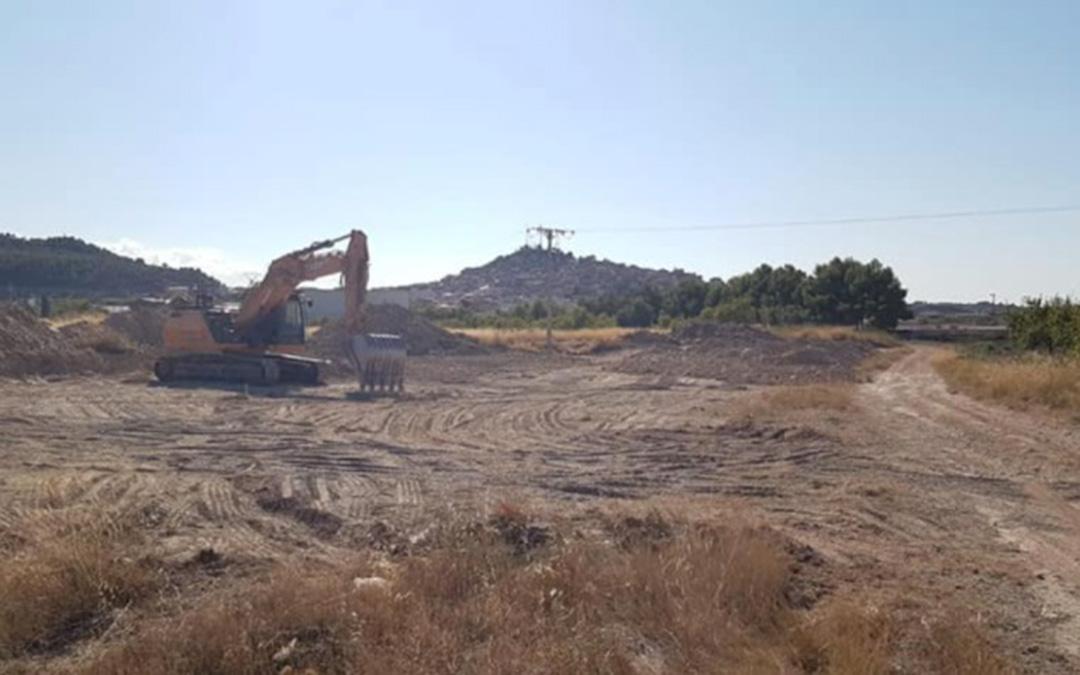 Las obras del nuevo punto limpio de Calaceite están previstas que finalicen en otoño./ Ayuntamiento de Calaceite