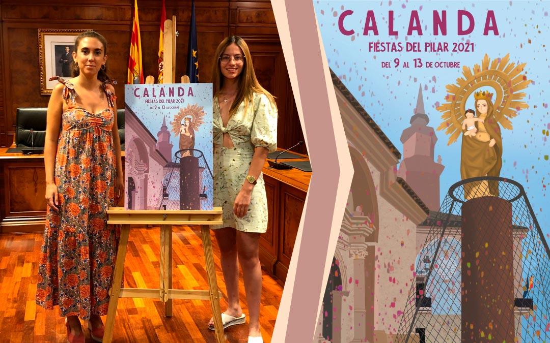 Cartel Ganador Calanda de CarolinaCoral, de Foz-Calanda, con el lema 'Confía en la magia de nuevos proyectos'./ L.C.