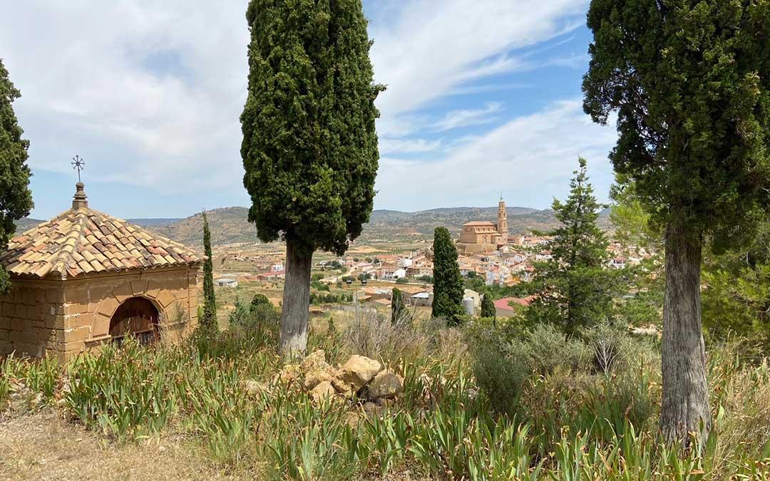 Vista desde la zona alta del Calvario de Alloza./ Alicia Martín