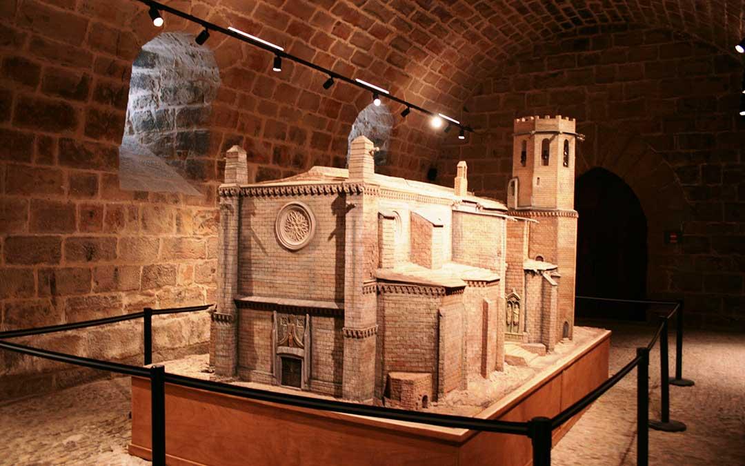 Maqueta instalada en el castillo de Valderrobres./ Fundación Valderrobres Patrimonial
