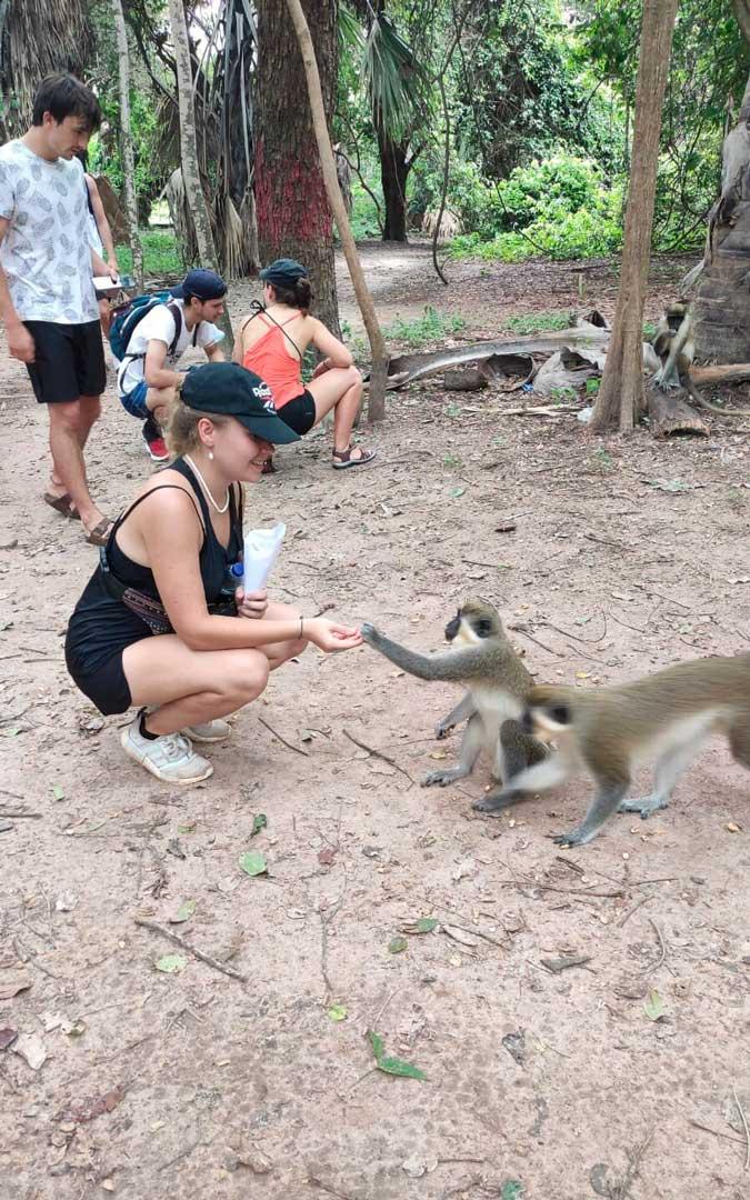 Entre sus escapadas por Gambia, Paula Poblador visitó una reserva natural / P. P.