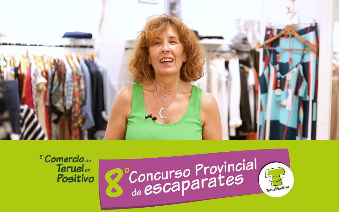 Cristina Foz, ganadora del concurso provincial de escaparates./ L.C.