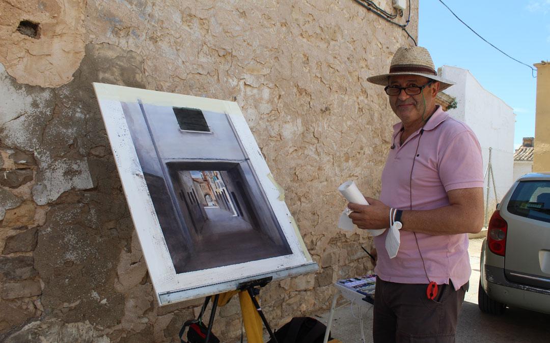 Manuel Nuño, de Zaragoza. Eligió una calle emblemática a la que quiso dotar de cierta luminosidad. Obtuvo segundo premio/ B. Severino