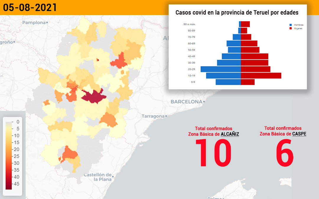 La zona básica de Alcañiz ha registrado 10 casos y la de Caspe 6./ L.C.