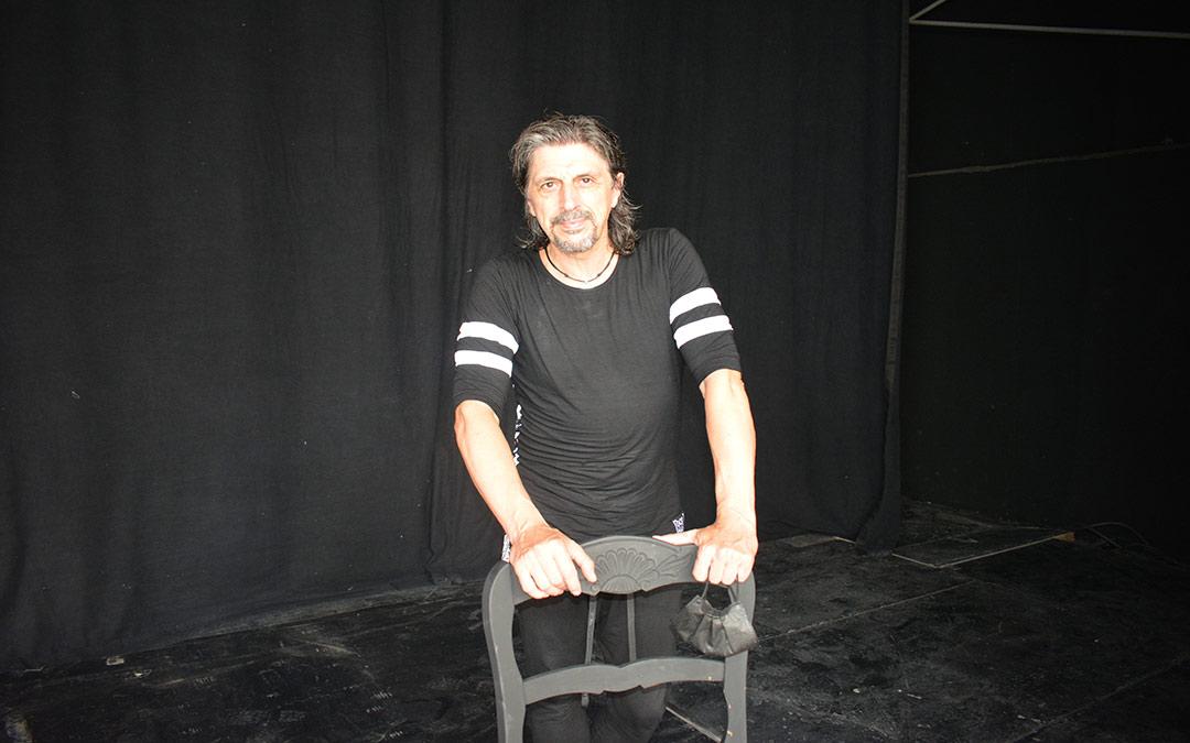 Miguel Ángel Berna antes de su espectáculo en el Anfiteatro Pui Pinos./I.M.