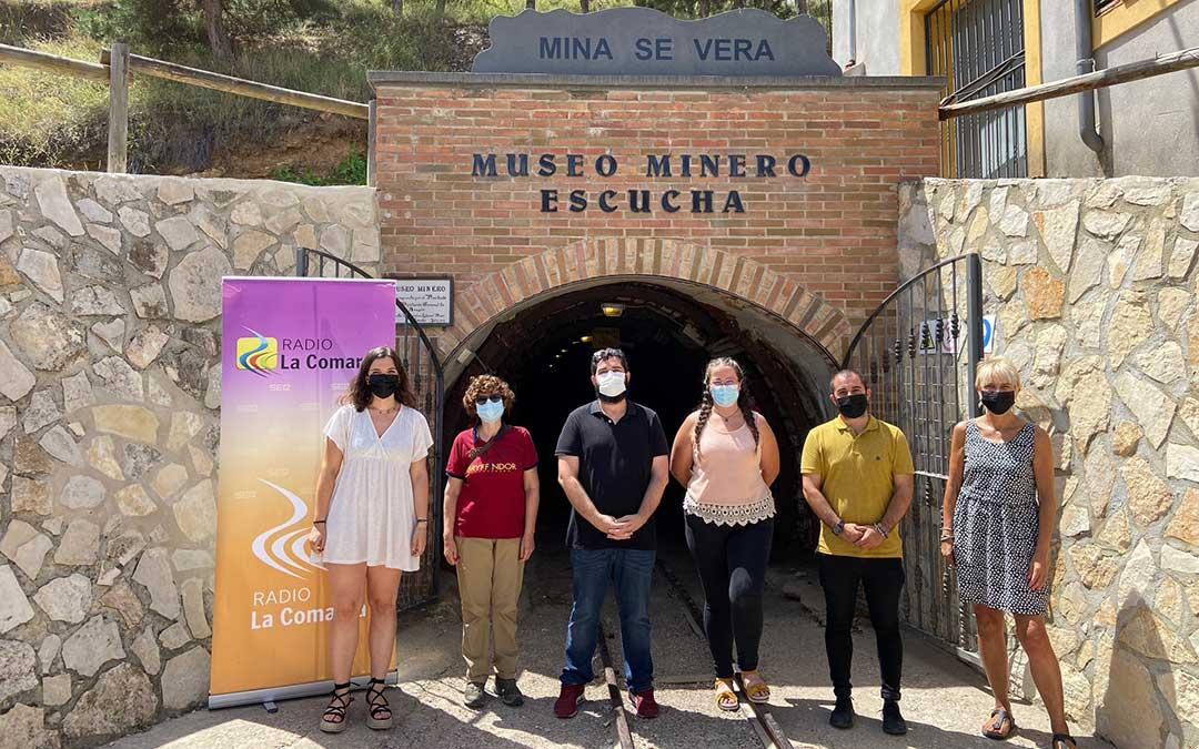 Invitados al programa de Radio La Comarca emitido desde el Museo Minero de Escucha./ L.C.
