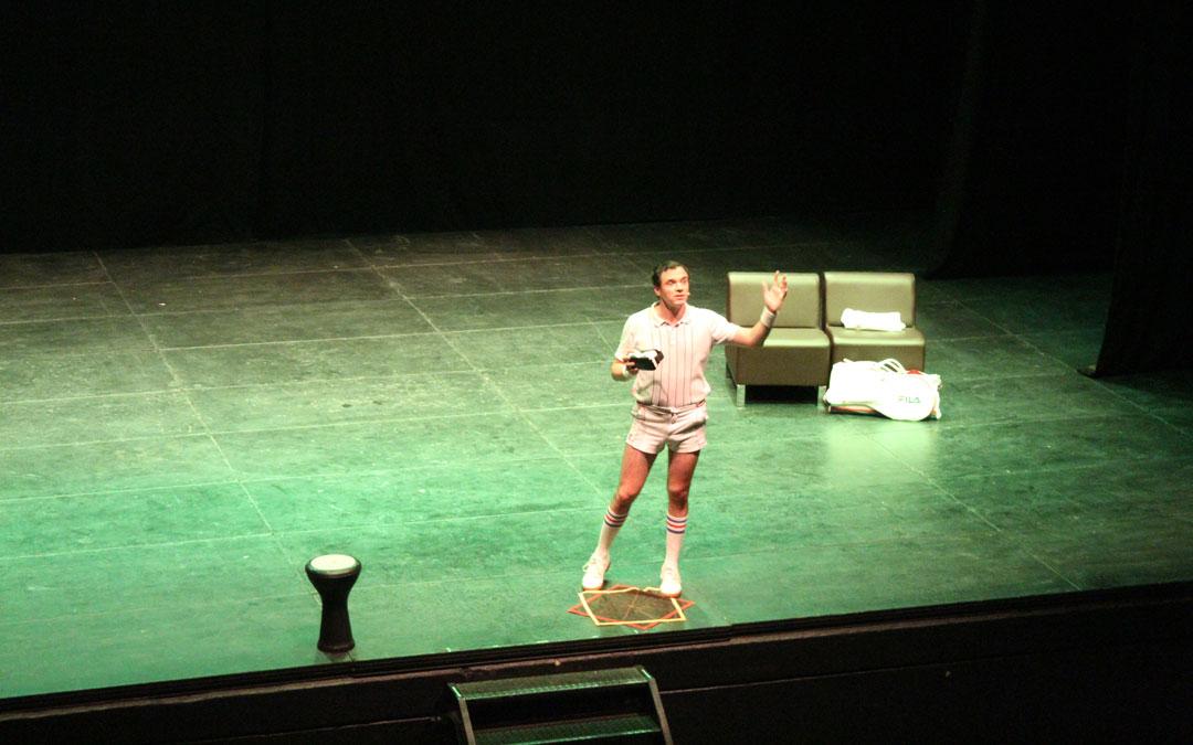 Rafa Maza, en la piel de Fabiolo en su actuación en Alcañiz. / B. Severino
