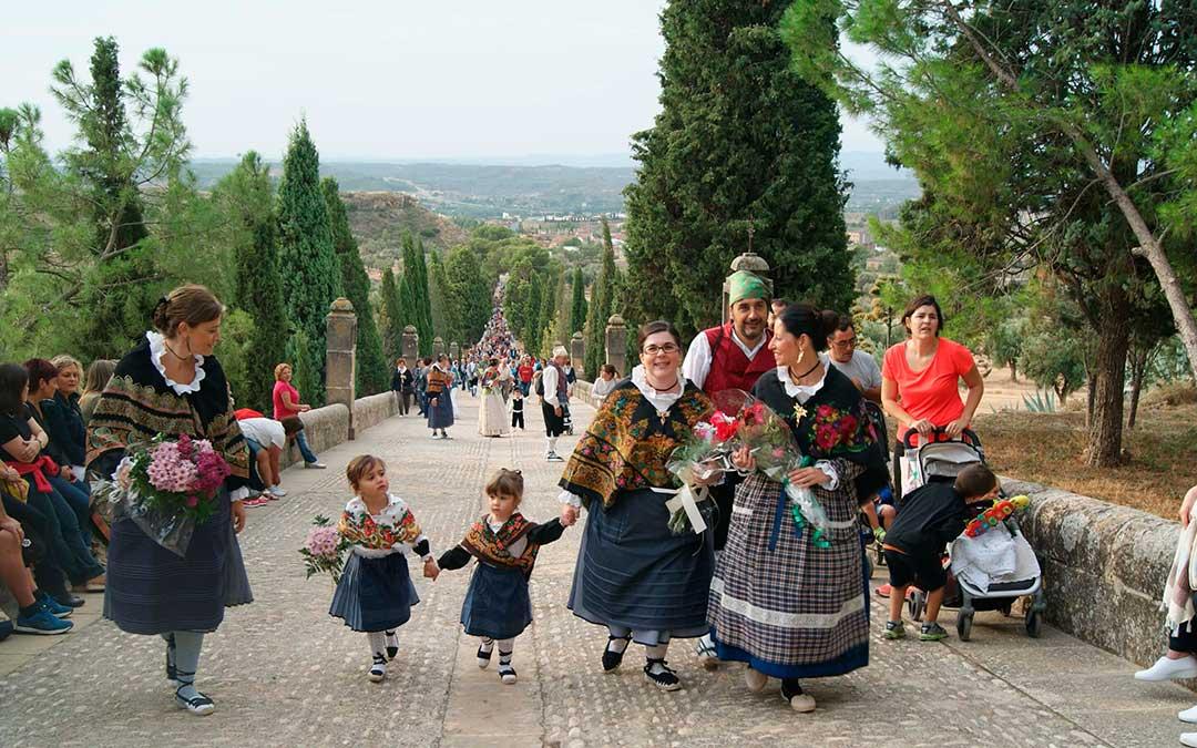 Imagen de archivo de la romería a Pueyos en Alcañiz./ L.C.