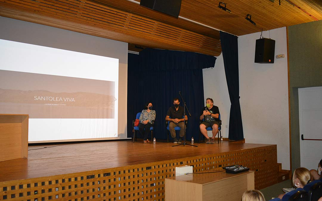 Pilar Gil, Luis Mampel y Francisco Aguilar durante el acto./I.M.