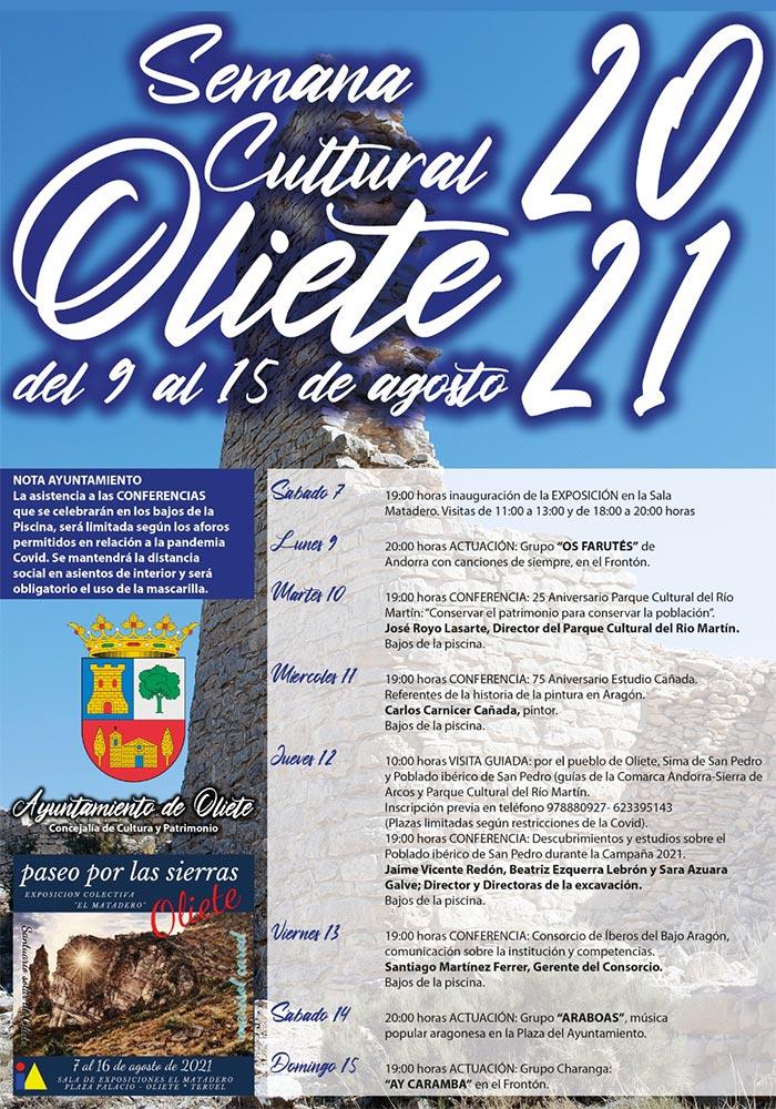 Semana Cultural 2021 en Oliete