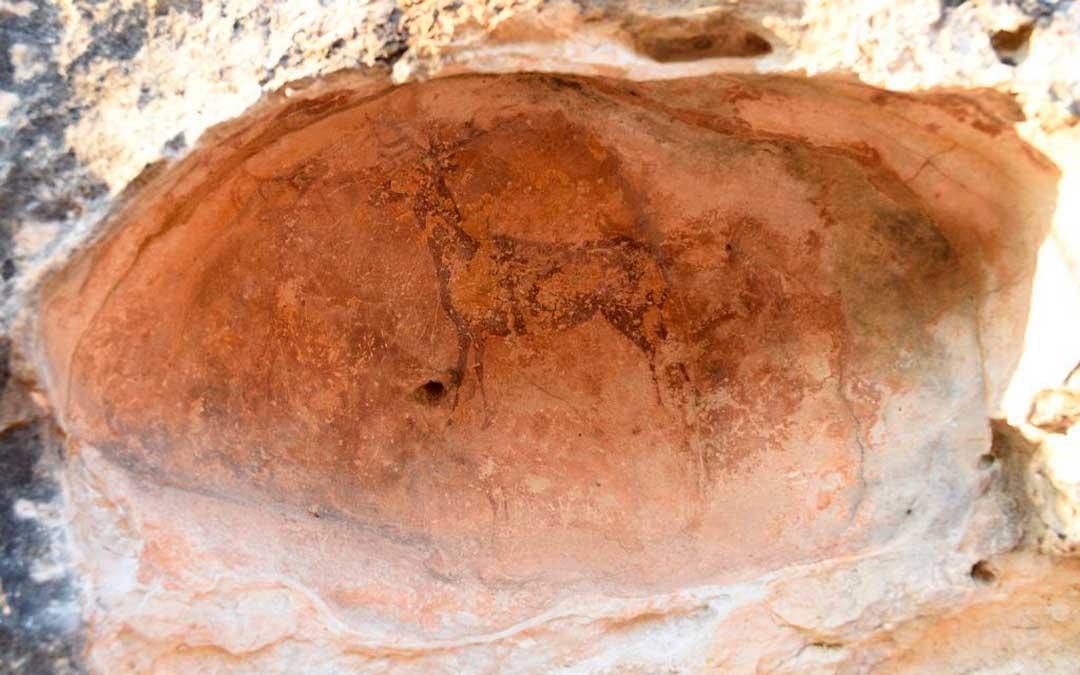 Pintura rupestre en el Abrigo del Pullido en Caspe / Ayuntamiento de Caspe