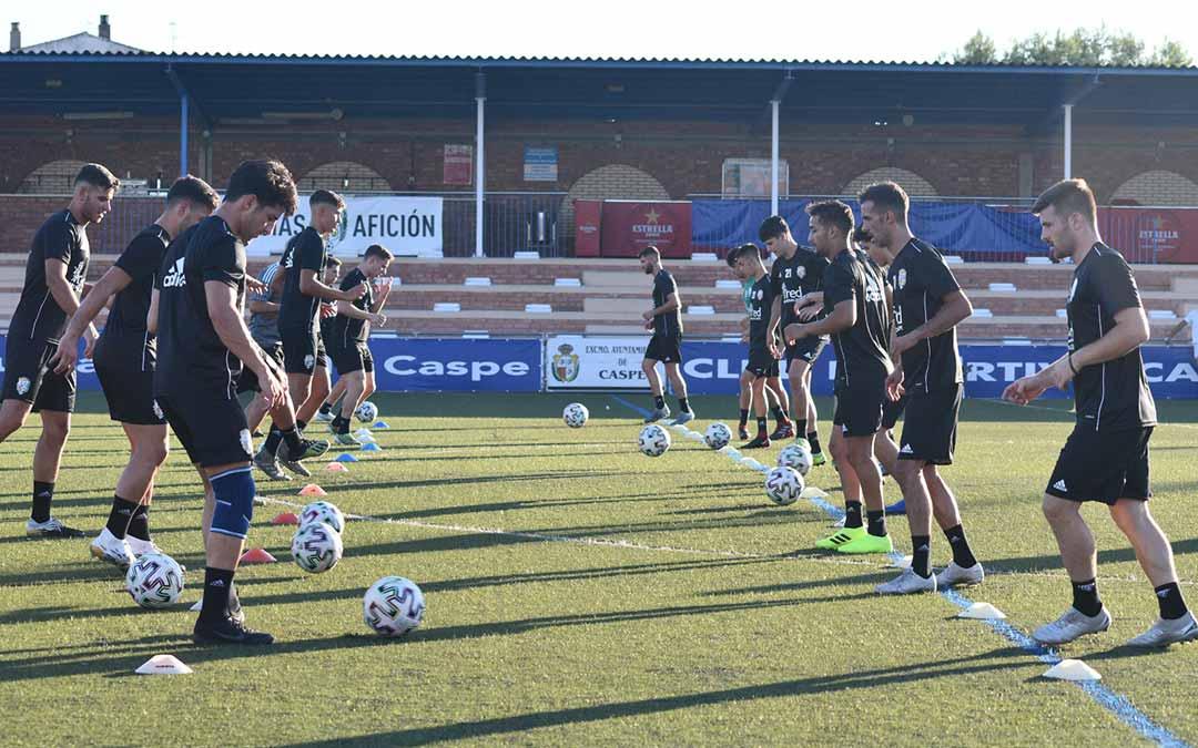 El Caspe comenzó sus entrenamientos este jueves / Erika Martínez