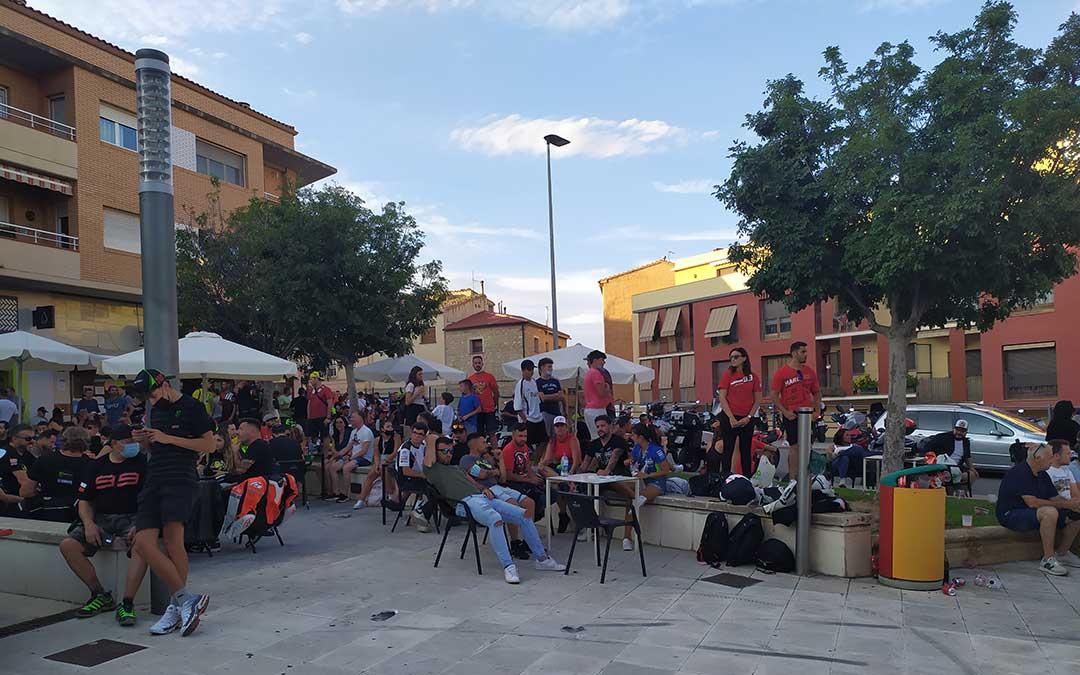 Las principales plazas de la ciudad se han llenado de aficionados. /Laura Martínez