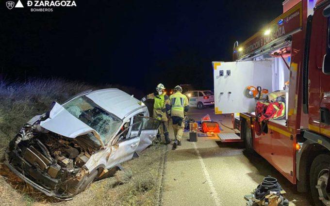 Herido tras salirse de la vía en un accidente entre Chiprana y Escatrón