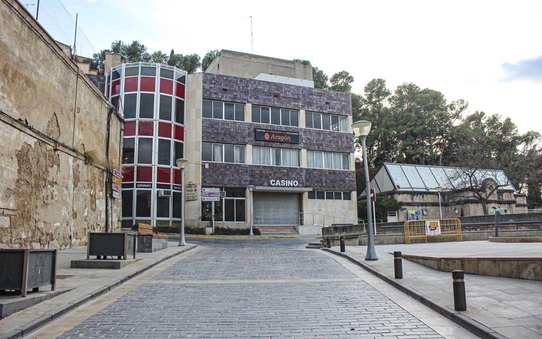 Edificio del Casino en Alcañiz. / La Comarca