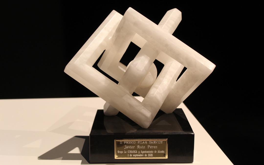 II Premio Pilar Narvión, escultura en alabastro obra de Pedro Anía. / B. Severino