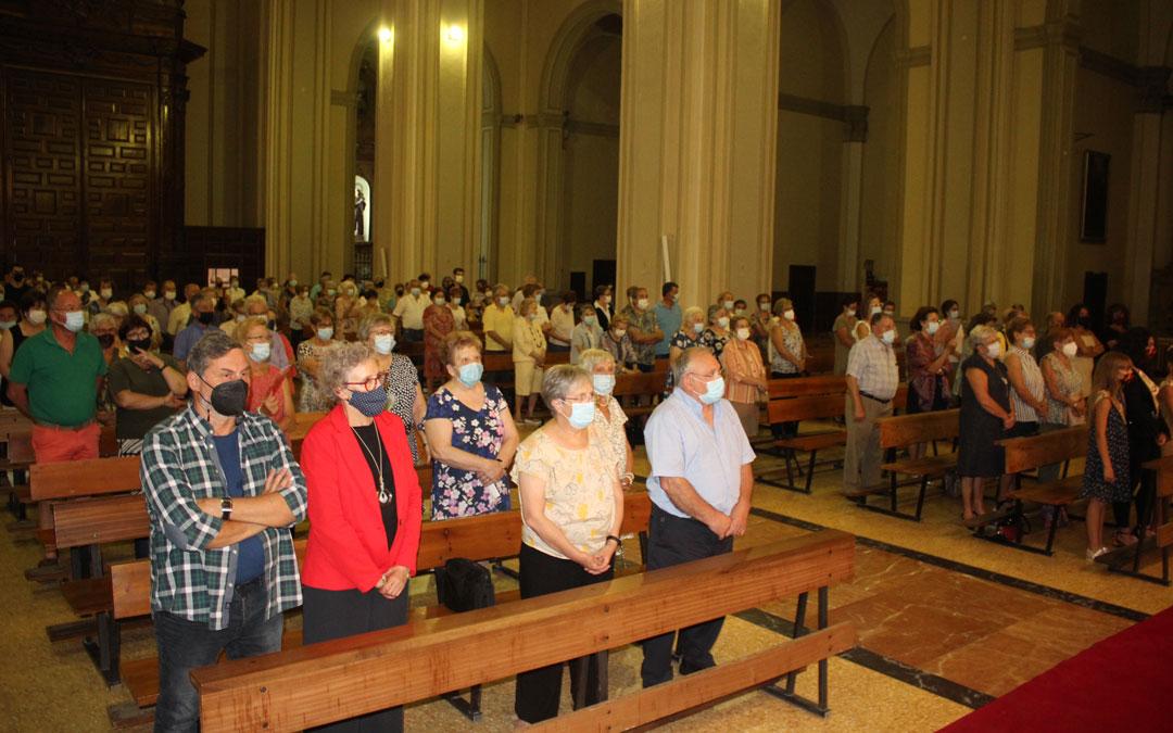 La misa por la patrona se trasladó del santuario de Pueyos a Santa María. / L. Castel