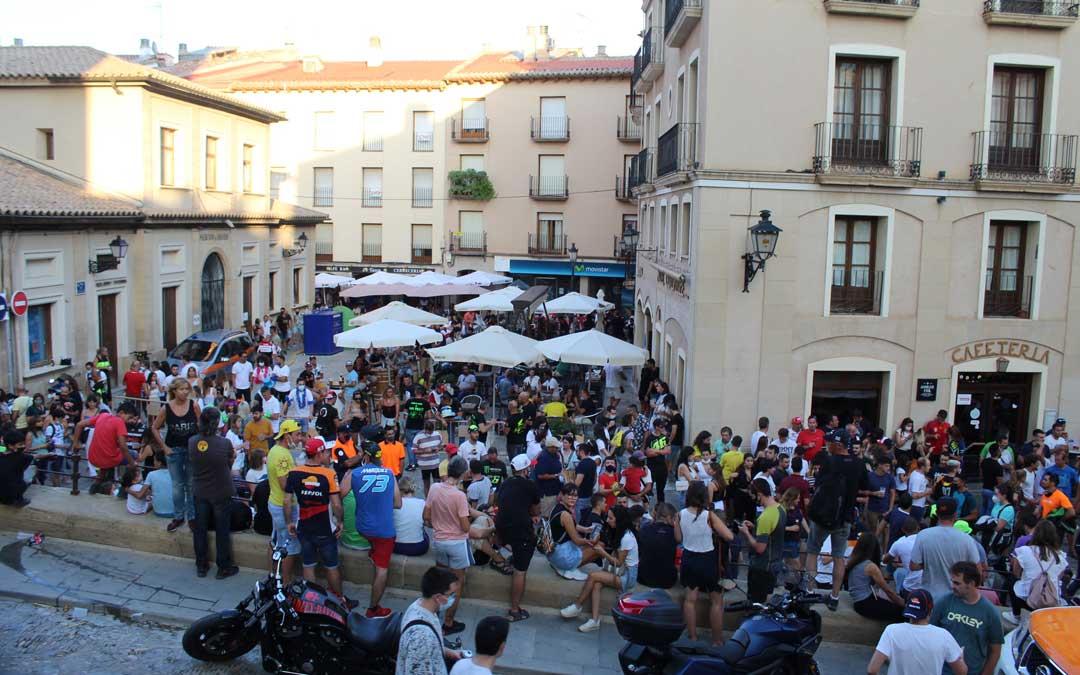 La plaza de España al final de la tarde del sábado de MotoGP. / B. S.