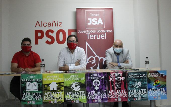 Juventudes Socialistas de Teruel presentan en Alcañiz su campaña de afiliación
