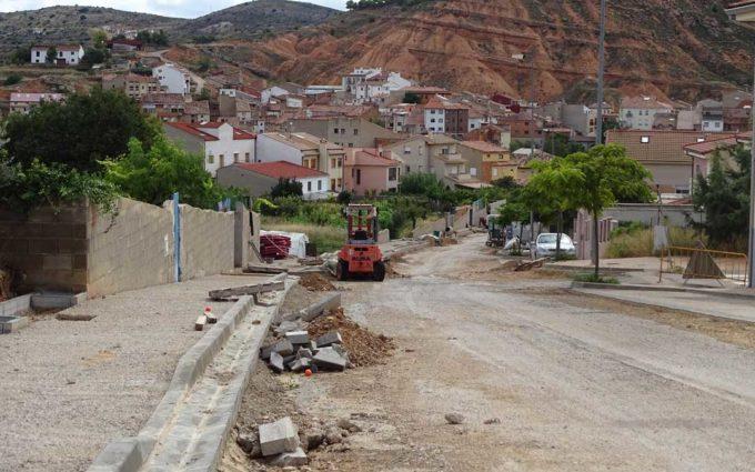 Las obras del Camino Hondo de Alcorisa alcanzan el 40% de ejecución