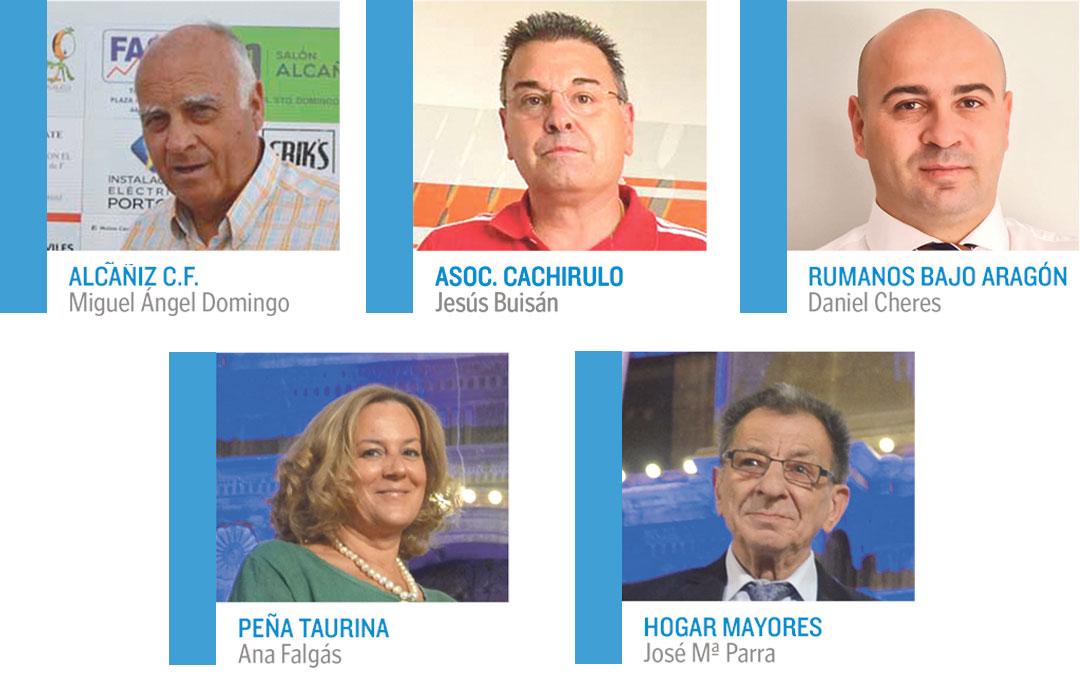 Presidentes y presidentas de las asociaciones de Alcañiz.