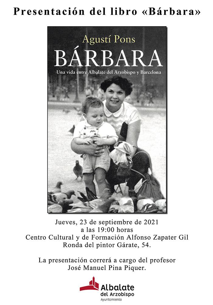 Presentación libro 'Bárbara' en Albalate del Arzobispo
