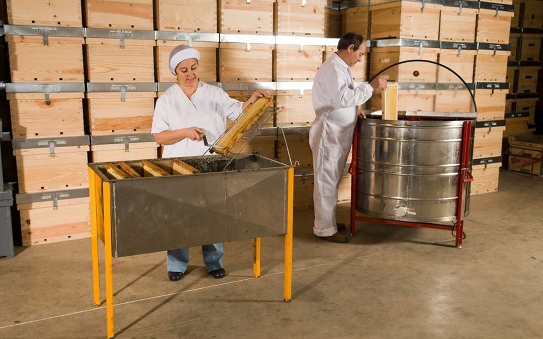 Proceso de elaboración Miel Levi - Casa Roya./ Comarca Andorra - Sierra de Arcos