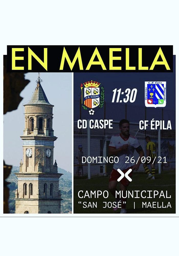 C.D. Caspe vs. C.F. Épila en Maella