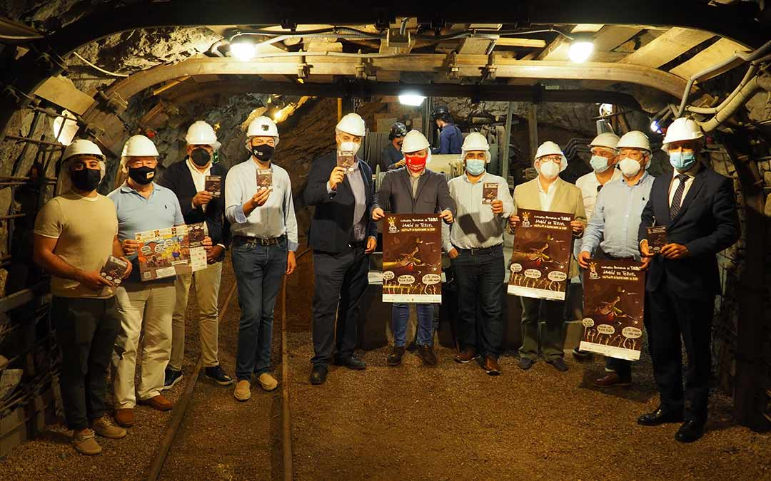 Presentación de la nueva edición del Concurso de Tapas Jamón de Teruel en el Museo Minero de Escucha./Teruel Empresarios Turísticos