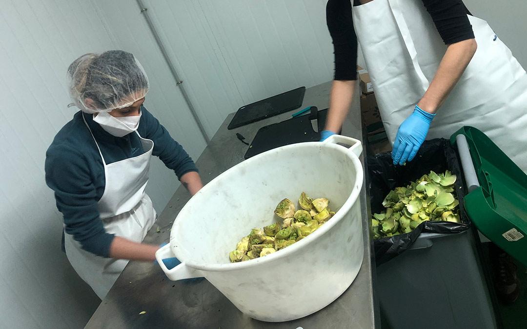 Proceso de elaboración de la conserva de alcachofa Mi Huerto./ Comarca Andorra - Sierra de Arcos