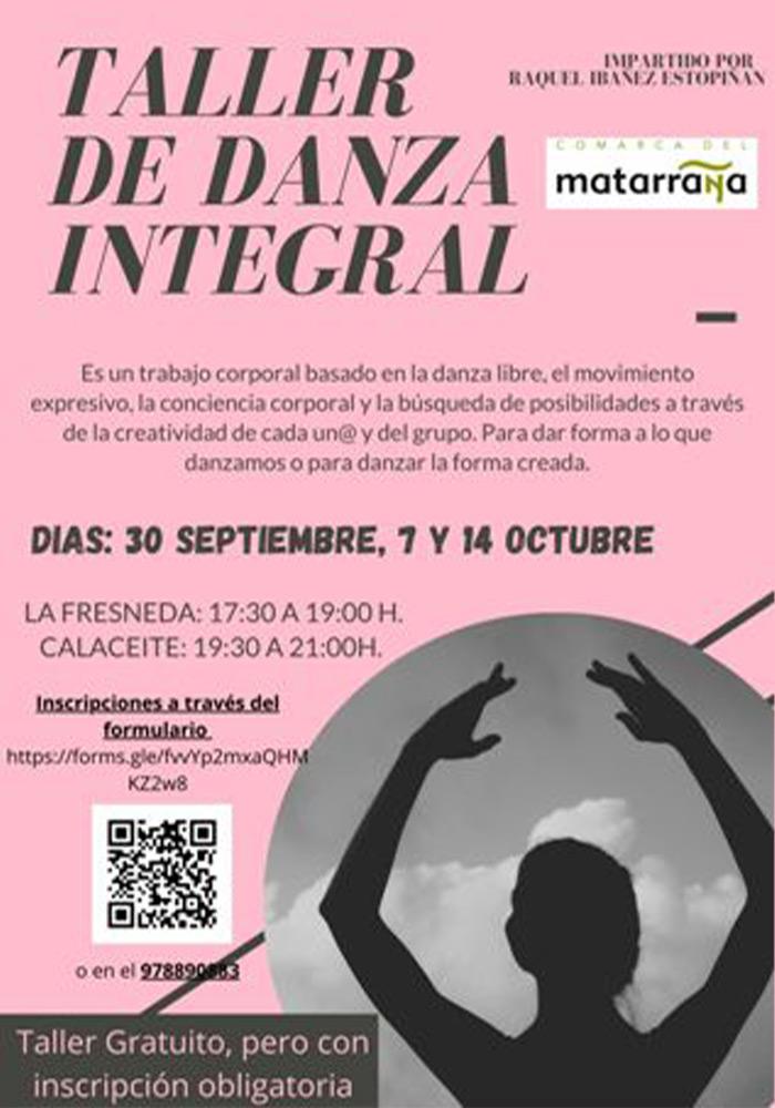 Taller de Danza Integral en La Fresneda y Calaceite
