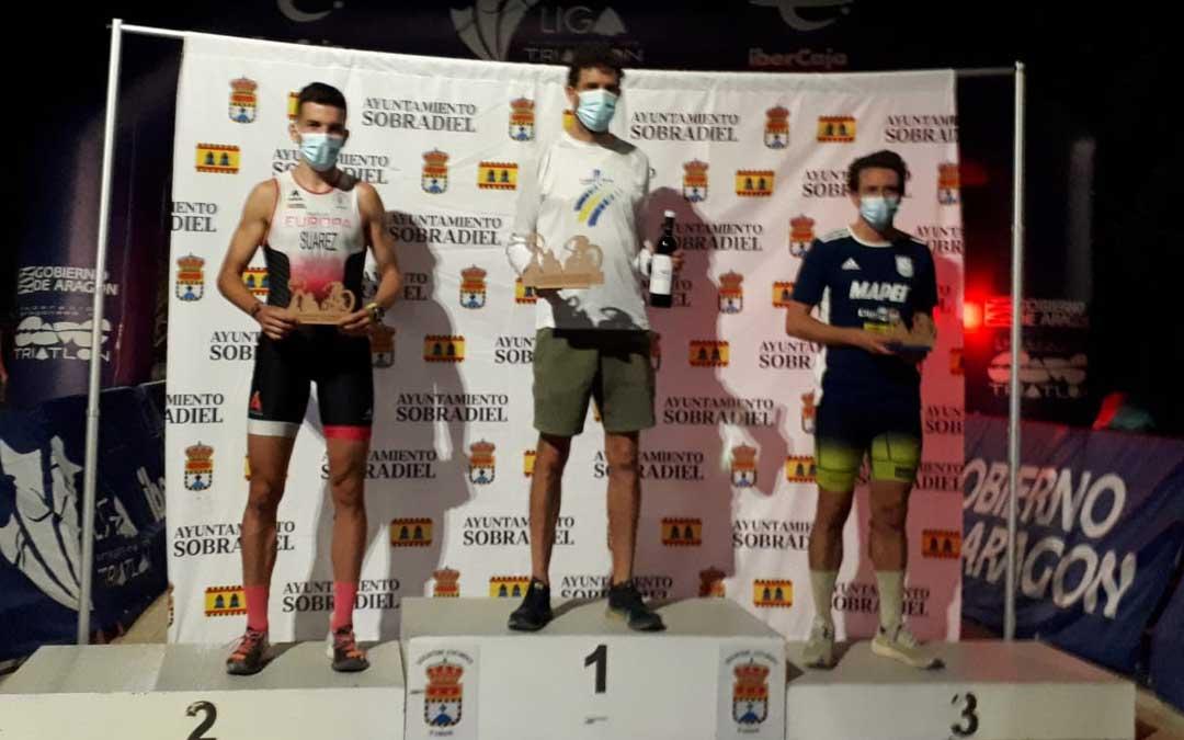 El podio de la categoría masculina con Sábado en el primer cajón. Foto. FATRI