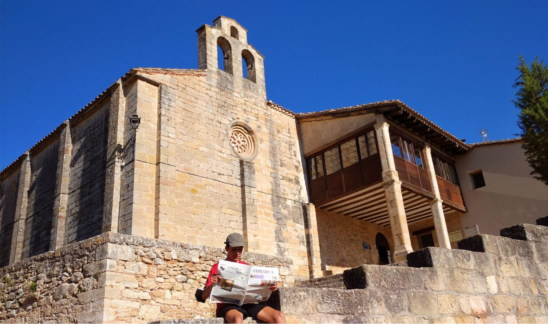 Oriol Giner Diaz de Viladecans. De vacaciones en Teruel. Ha ganado una escapada al Monasterio de Rueda para dos persona