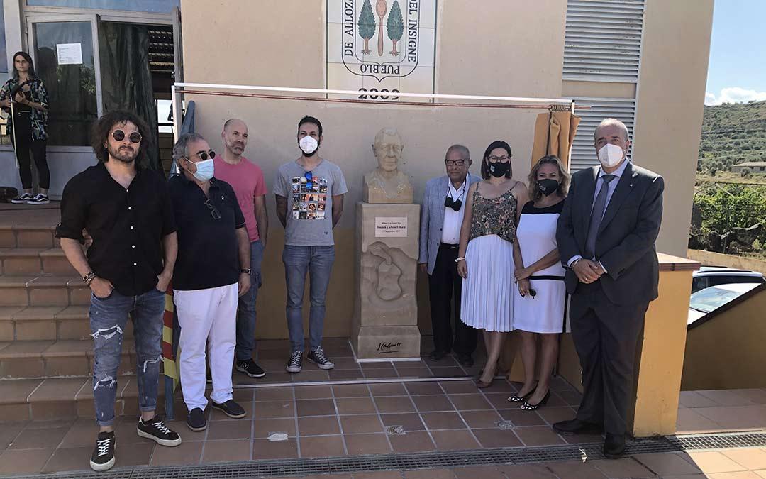 Homenaje a Joaquín Carbonell en Alloza./DPT