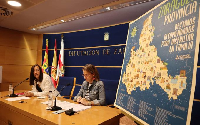 Un mapa didáctico para que los escolares descubran la provincia de Zaragoza