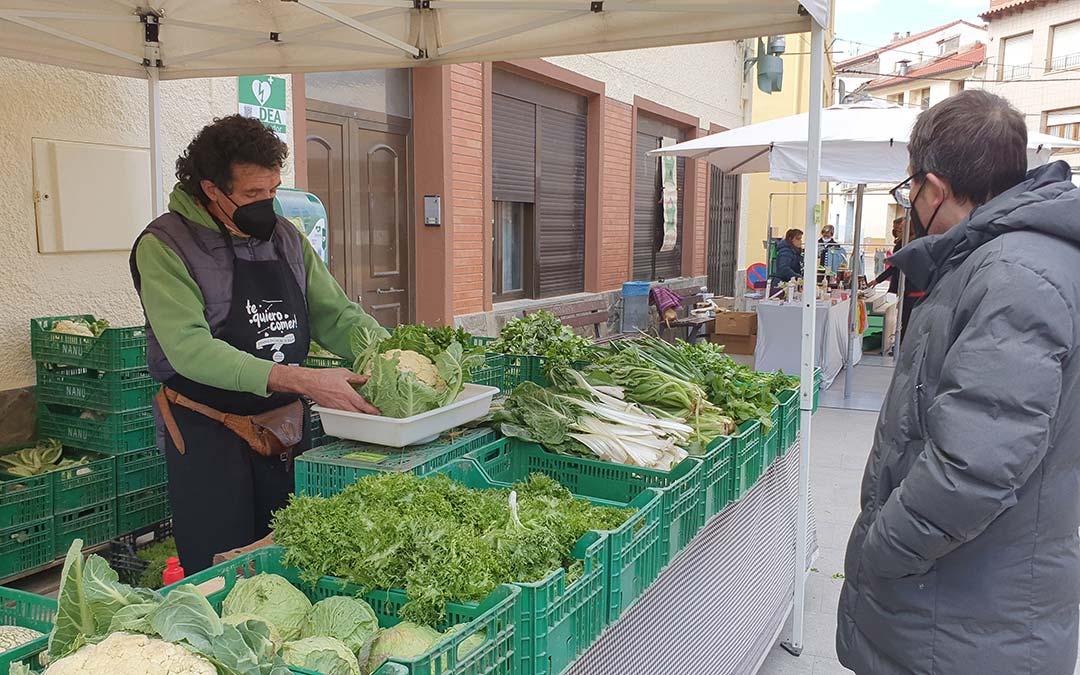 Hortalizas en Mercado Agroecológico./ Comarca Andorra - Sierra de Arcos