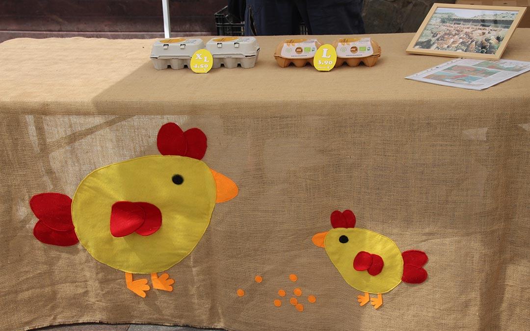 Huevos ecológicos en Mercado Agroecológico./ Comarca Andorra - Sierra de Arcos