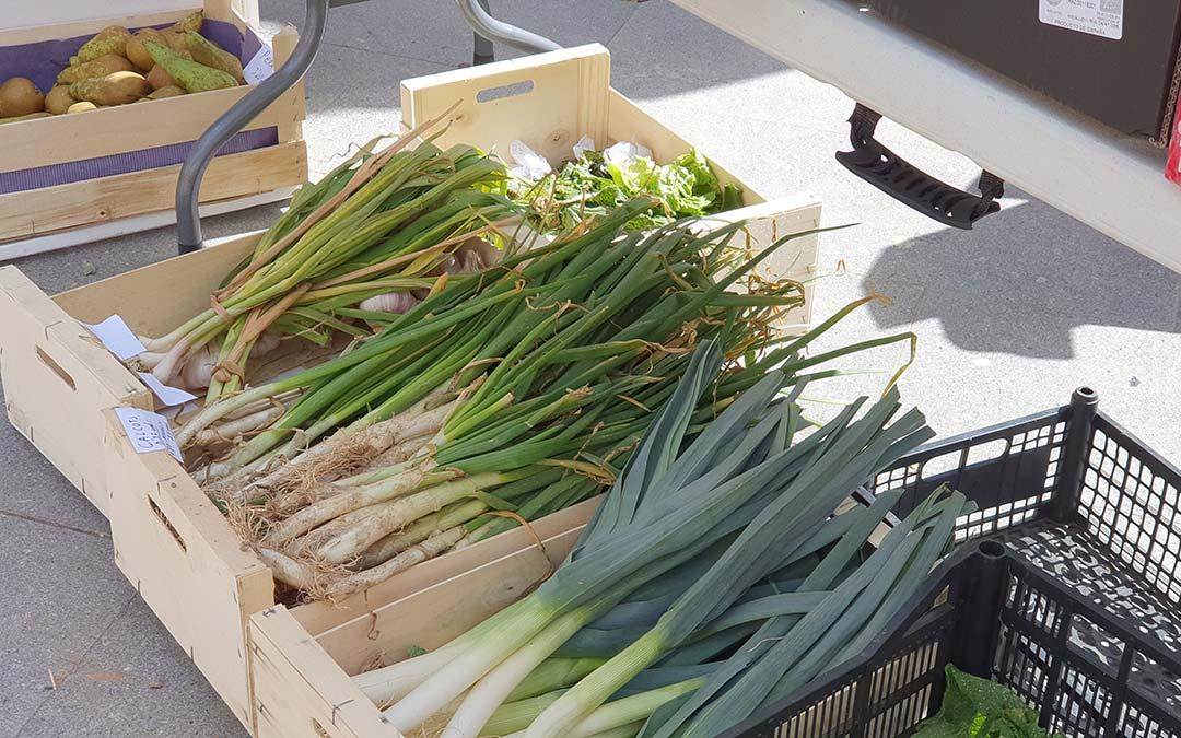 Verduras en Mercado Agroecológico./ Comarca Andorra - Sierra de Arcos