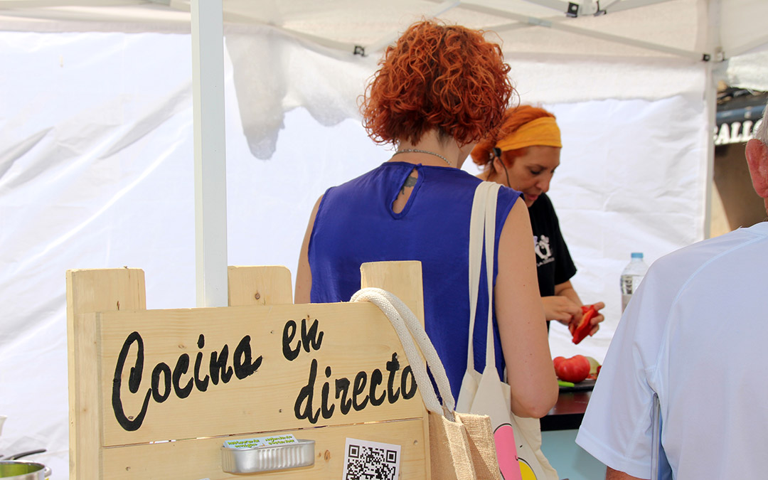 Cocina en directo Mercado Agroecológico./ Comarca Andorra - Sierra de Arcos