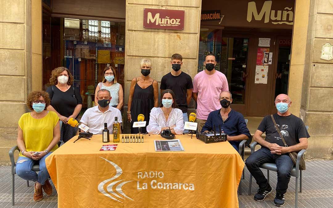 Invitados al programa especial emitido con motivo de las 'No fiestas' de Alcañiz./ L.C.