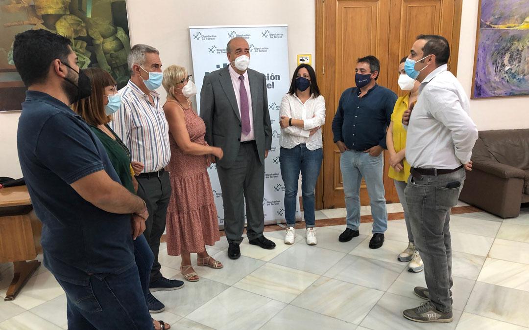 Los diputados socialistas en la Diputación de Teruel. / PSOE-DPT