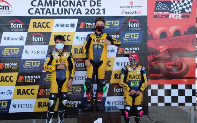 Raúl Navarrete, muy cerca de coronarse como campeón de la OhVale Cup de motociclismo