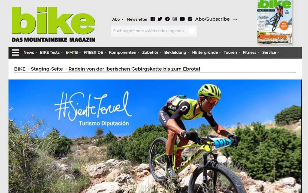 Portada de la revista Bike dedicada el mundo de la bicicleta de montaña. Foto. Bike