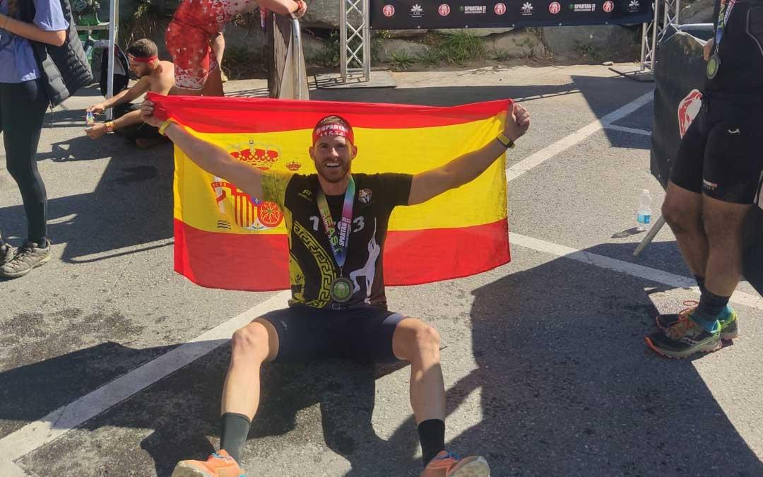 Sergio Bernad una vez finalizada la prueba que se disputó en Suiza. Foto. S.B.