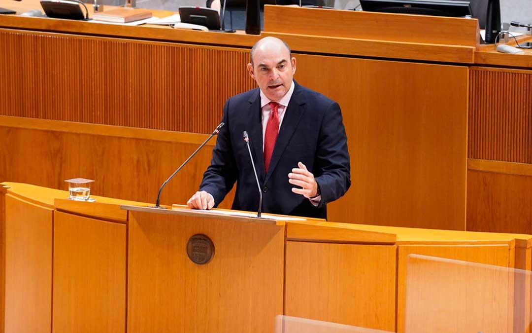 El diputado alcañizano del PP Gracia Suso este viernes en las Cortes de Aragón / PP