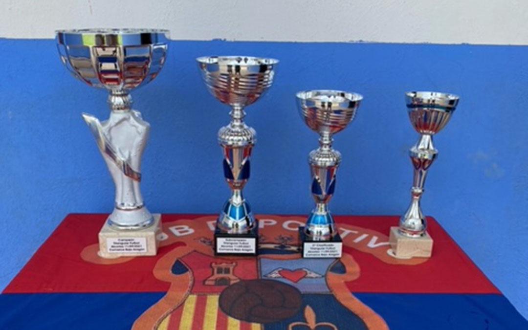 Trofeos del Torneo Infantiles de Alcorisa./ Carlos Tirado