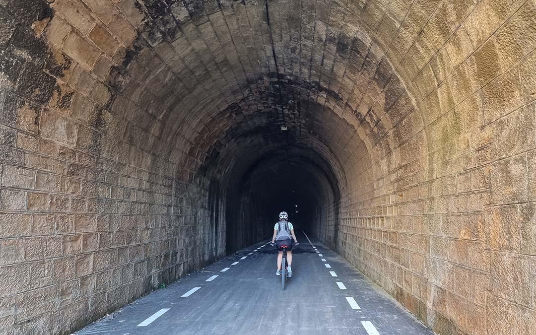 Túnel Horta de San Joan Lledó Vía Verde Val de Zafán
